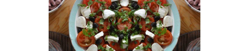 feta salade met olijven en tomaat