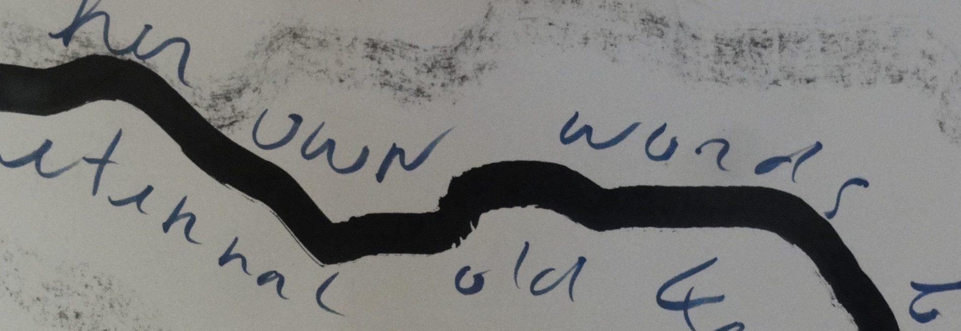 Houtskool pen tekening