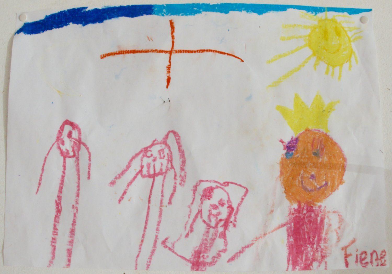 tekening Fiene met zon